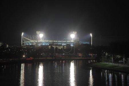 Sports stadium Melbourne night