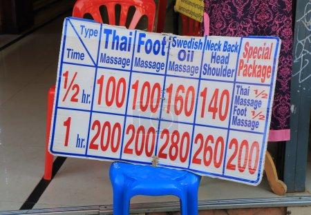 Thai massage tourism