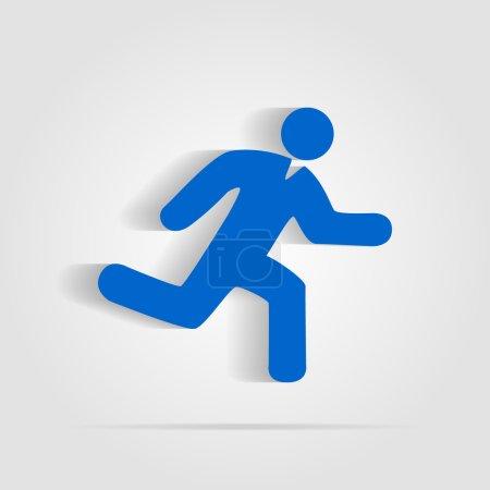 Man running icon on white background