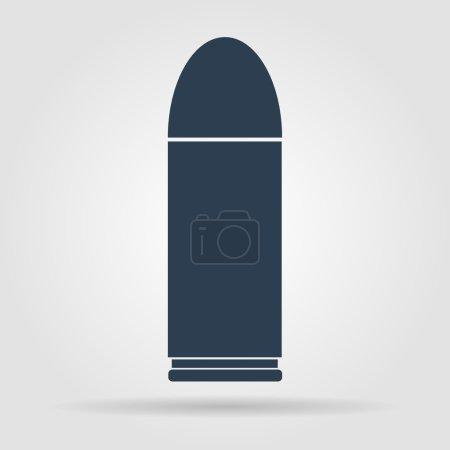 Illustration pour Icône de balle, isolé, noir sur le fond blanc. Vecteur - image libre de droit