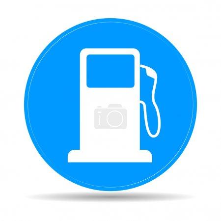 Señal de la boquilla de la bomba de gasolina. Icono de gasolinera .