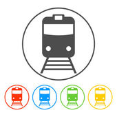Train icon isolated vector eps 10 illustration