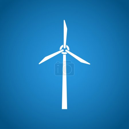 Illustration for Wind turbine icon. Flat design style eps 10 - Royalty Free Image