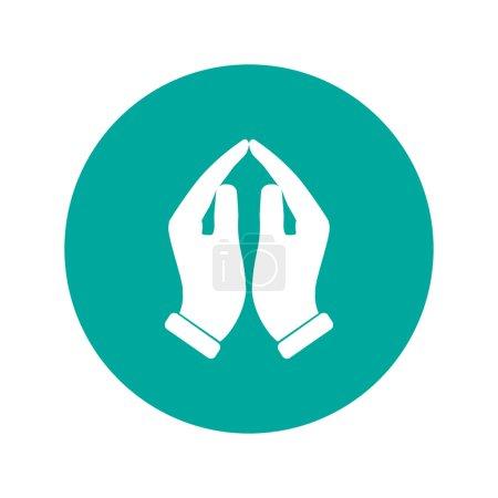Illustration pour Icône mains priantes, illustration vectorielle. Style design plat - image libre de droit