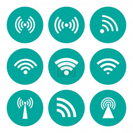 Wireless technology. Flat design style