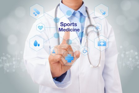 doctor with Sports Medicine sign