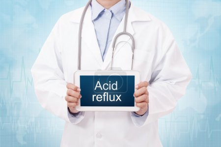 doctor with Acid reflux sign
