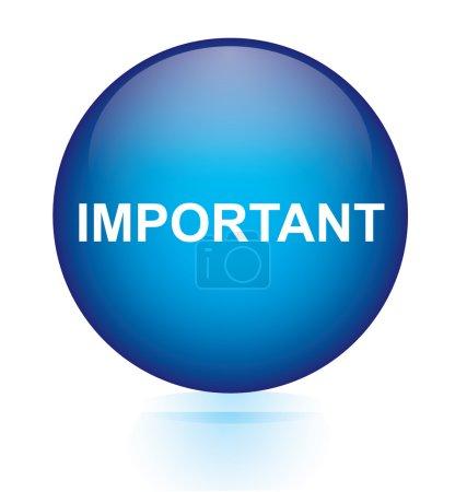 Important blue circular button...