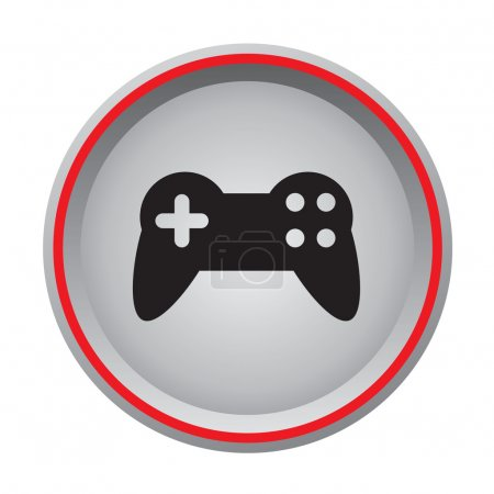 Video game controller icon circular button