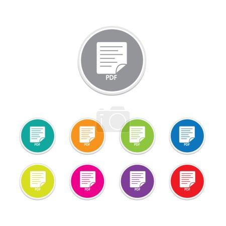 Vector - Set of pdf icon
