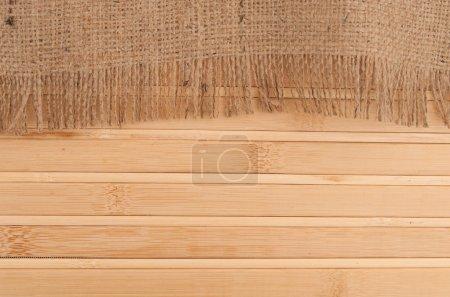 Bamboo mat and burlap