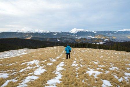 Morning walk in mountain