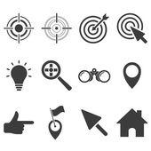 Set of target icons