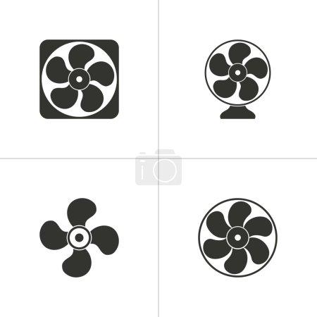 Set of simple fan icon