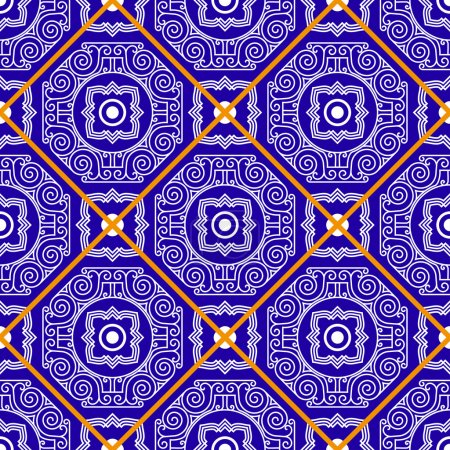 Seamless pattern from tiles.