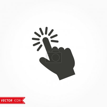 Touch  - vector icon.