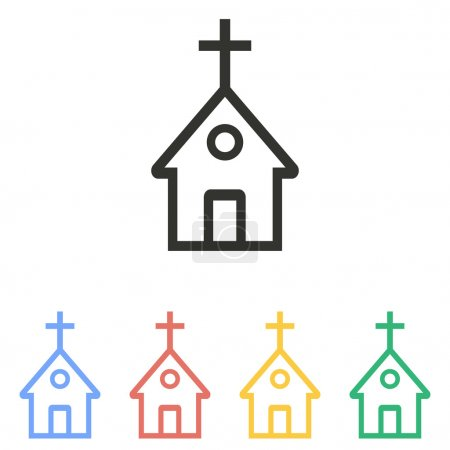 Church - vector icon.