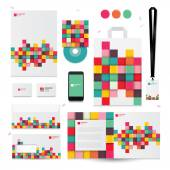 Geometric elements for corporate identity templates.