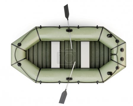 Bote inflable vista superior
