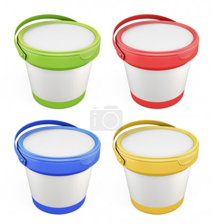 Templates for putty buckets with lids assorted colors