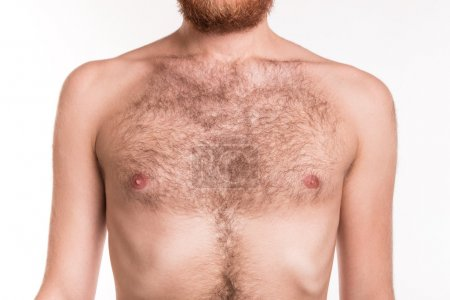 Bare chest of man
