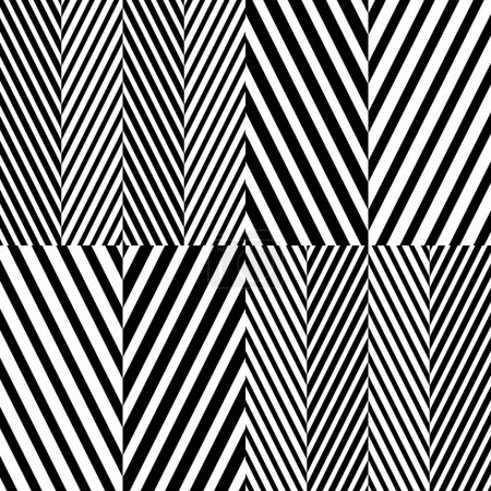 Abstract Black and White Herringbone Fabric Style ...