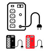 UPS Uninterruptible Power Supply Icon Vector Illustration