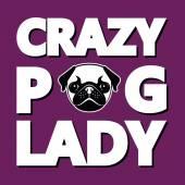 Crazy Pug Lady Humor T-shirt Typography Graphics Vector Illustration