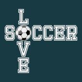 Love Soccer T-shirt Typography Graphics Vector Illustration