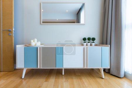 Cabinet in bedroom interior