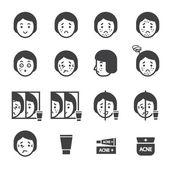 acne icon setvector eps10