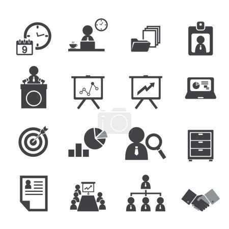 Illustration pour Ensemble d'icônes Organisation et gestion d'entreprise - image libre de droit