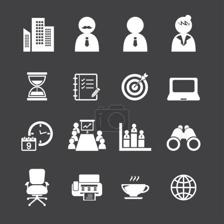Illustration pour Ensemble d'icônes Office - image libre de droit