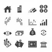 Financial investment icons