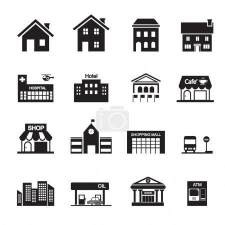 Illustration for Building icon - Royalty Free Image