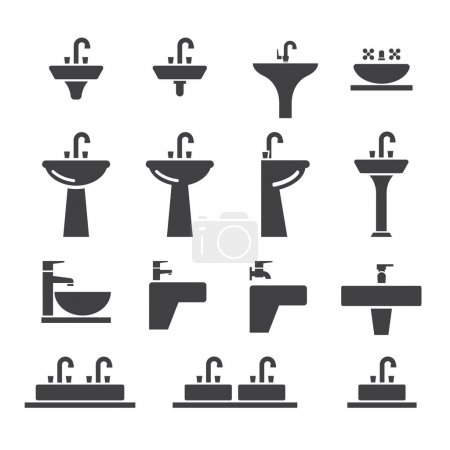 Sink icon set