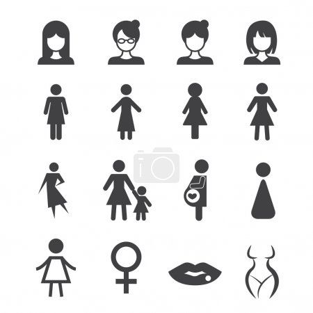 Illustration for Woman icon - Royalty Free Image