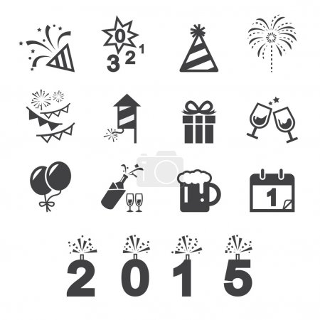 Photo for Happy new year icon - Royalty Free Image