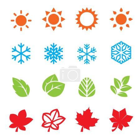 season icon set