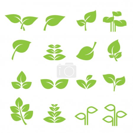 Illustration for Leaf icon - Royalty Free Image