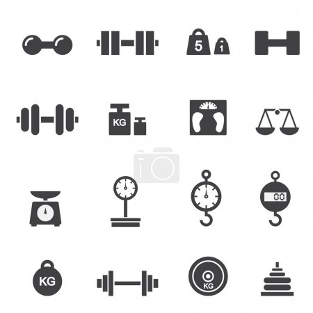 Illustration for Weight icon - Royalty Free Image