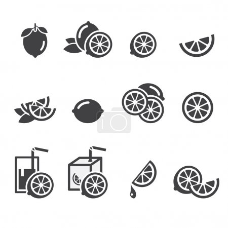 Illustration for Lemon icon - Royalty Free Image