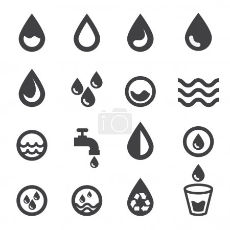 Illustration for Water icon - Royalty Free Image
