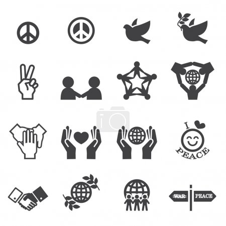 Illustration for Peace Icons - Royalty Free Image