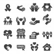 Charity Silhouette icons...