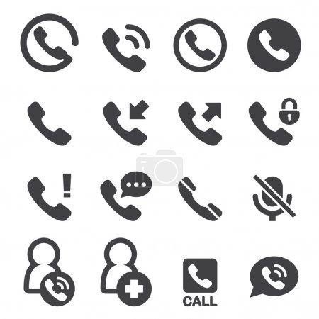 Phone and call icon