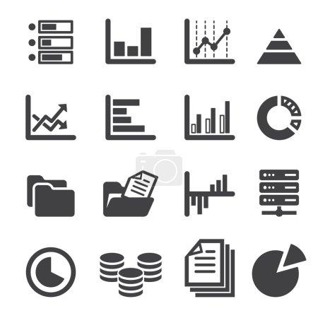 Illustration for Data icon set - Royalty Free Image