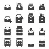 cabinet icon set