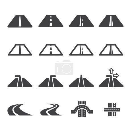 Illustration for Road icon set - Royalty Free Image