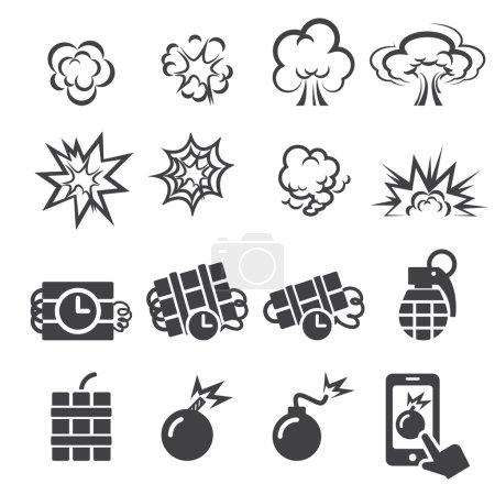 blast icon set